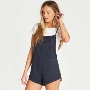 NWT Billabong Wild Pursuit Overalls In Ink Blue